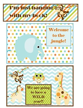 Jungle Welcome Postcards and bookmark