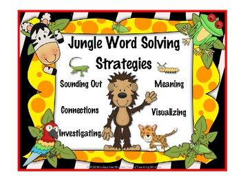 Jungle Word Solving Strategies Posters