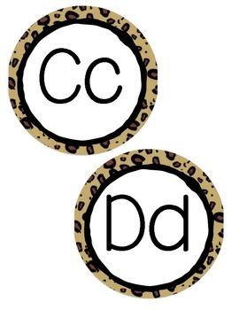 Jungle Themed Word Wall Alphabet Headers