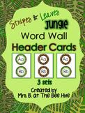 Jungle Word Wall Header Cards