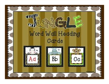 Jungle Word Wall Headings
