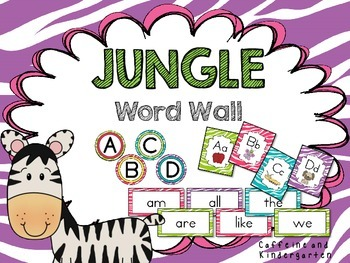 Jungle Word Wall - K - 2 Dolch Words