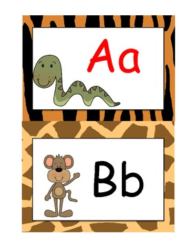 Jungle Word Wall Letter Headings