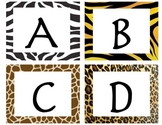 Jungle Word Wall Letters