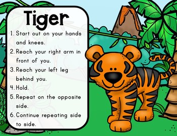 Jungle Yoga Cards and Printables