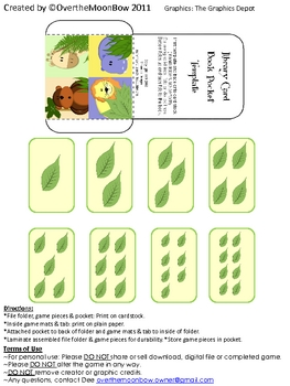 Jungle Yummies Animal Counting & Numbers Mini File Folder Game