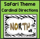 Cardinal Directions Signs - Jungle Theme Classroom Decor