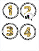 Jungle Theme - Zebra Theme Circle Numbers / Labels 1 - 40
