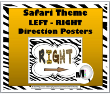 Jungle Theme Classroom Decor - Positional Words - Left and Right Posters