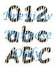Jungle Zebra Stripes Alphabet Clip Art Set