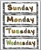 Jungle Theme Classroom Decor Days of the Week Labels & Months of the Year Labels