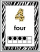 Jungle Theme Classroom Decor - Numbers 0-10 - Ten Frame Number Posters