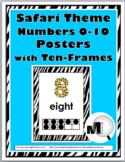 Safari Theme Classroom Decor - Numbers 0-10 - Ten Frame Number Posters