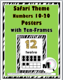 Jungle Theme Numbers 11-20 Posters with Ten Frames