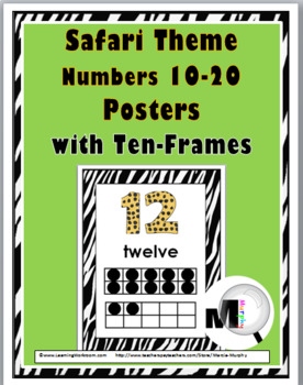 Jungle Theme Classroom Decor Ten Frame Number Posters 11-20