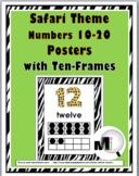 Safari Theme Classroom Decor Ten Frame Number Posters 11-20