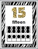 Jungle Theme & Zebra Theme Numbers 11-20 Posters with Ten