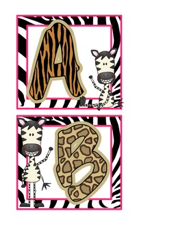 Jungle Zebra Word Wall Headers