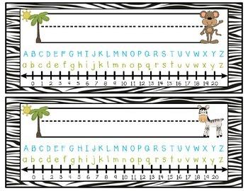 Jungle Zoo Animal Themed Nameplates