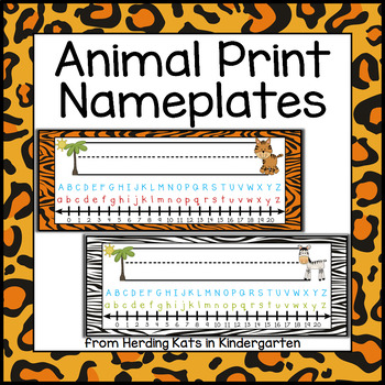 Jungle Zoo Animal Themed Nameplates