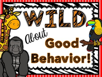 Jungle - Zoo - Safari - Animal Themed - Class Expectations Class Rules