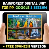 Jungle and Rainforest Habitats Digital Activities for Goog