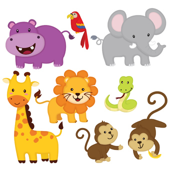 Jungle animal clipart by Accalia Digital | Teachers Pay ...