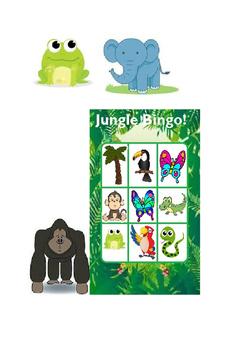 Jungle bingo - Topic centres