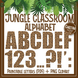 Jungle classroom clipart, Cheetah skin alphabet
