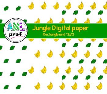 Jungle digital paper (zoo, papier numérique)