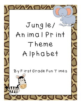 Jungle or Animal Print Theme Alphabet