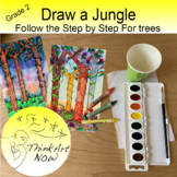 Art Lesson - Make a Jungle or Rain Forest Step by Step Dra