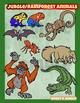 Jungle or Rainforest animals