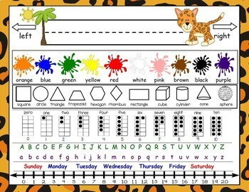 Jungle or Zoo Themed Resource Placemat