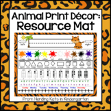 Zoo Animal Print Themed Resource Placemats