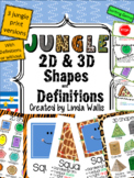 Jungle theme 2D and 3D Shapes with Definitions