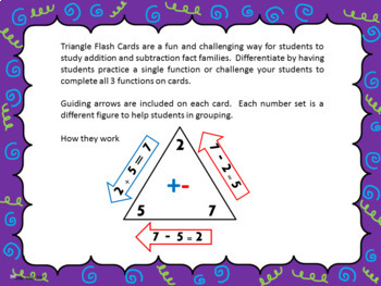 Jungle theme Addition and Subtraction Triangle Flash Cards
