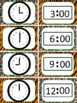 Jungle theme Clock Labels, Worksheets, and Game