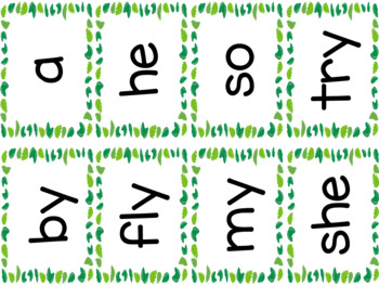 Jungle theme Syllable Type Posters & Sorting Game