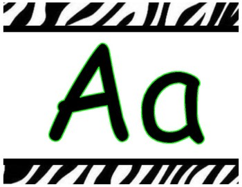 Jungle themed Alphabet, Numbers to 20, Welcome