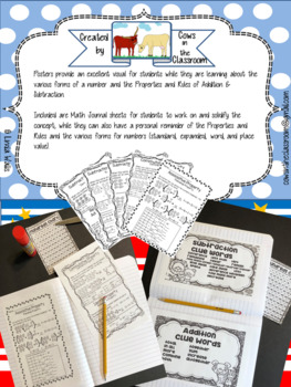 Jungle themed Hundreds Chart, Math Posters, & Journal Sheets