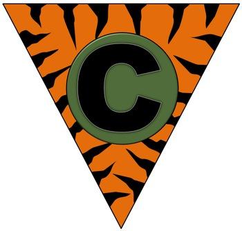 Jungle themed alphabet flags