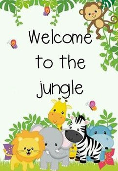 Jungle Themed Classroom Decor Pack By My Happy Hooligans Tpt