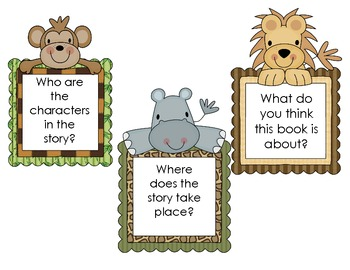 Jungle themed comprehension questions