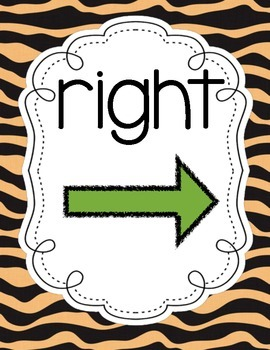 Jungle Themed Right/Left Signs