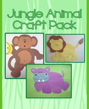 Jungle Animal Craft Pack