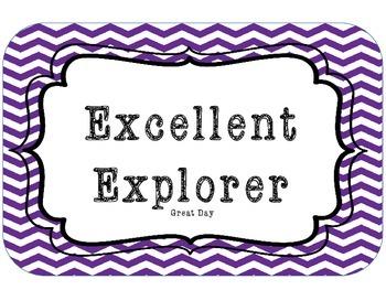Jungle/Explorer Theme Clip Chart