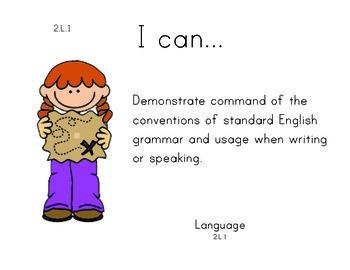JungleSafari 2nd grade English Common core standards posters
