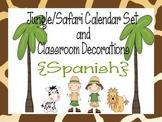 Jungle/Safari Calendar Set and Classroom Decorations {Spanish version}