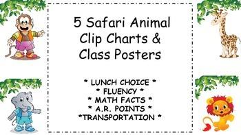 Jungle/Safari Clip Charts & Posters